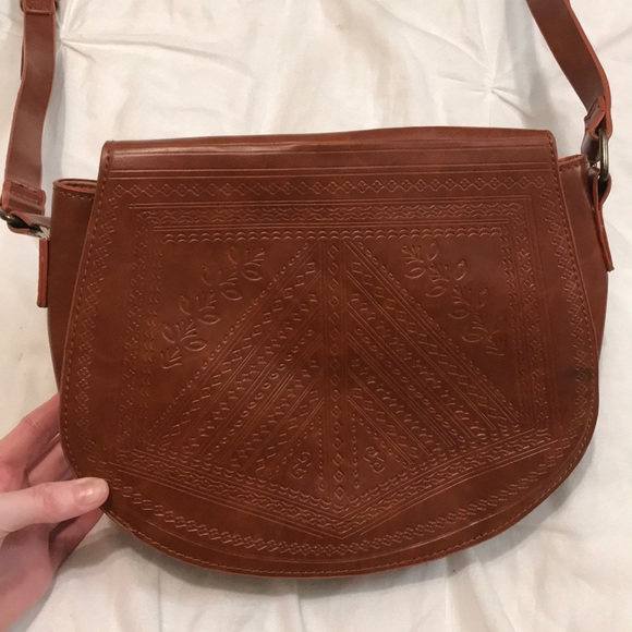 6861dbff7 Yoki Bags | Caramelbrown Crossbody Faux Leather Purse | Poshmark